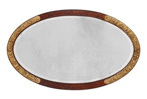 large-french-antique-oval-mirror-art-deco-style