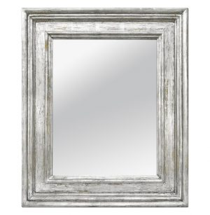 """Large French Silver Wood Mirror, Frame Inspiration """"Braque"""" by Atelier RTCD Paris"""
