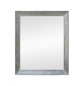 Large Silvered Wood Mirror, circa 1950