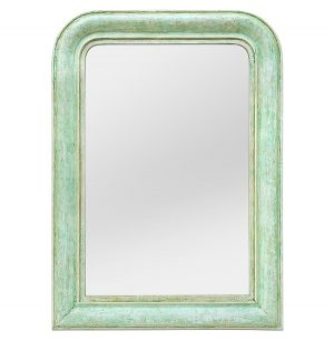 Louis-Philippe Style Mirror, Green Colors, circa 1925