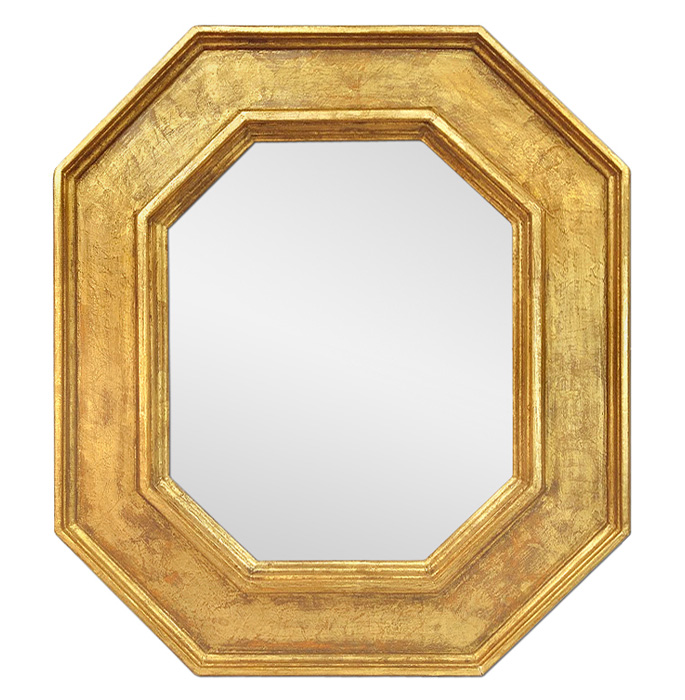 octogonal-giltwood-wall-mirror-by-Pascal-and-Annie-french-artists