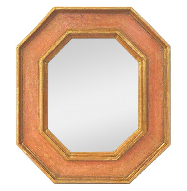 Octogonal Wall Mirror, Giltwood & Colors by Atelier RTCD - Paris
