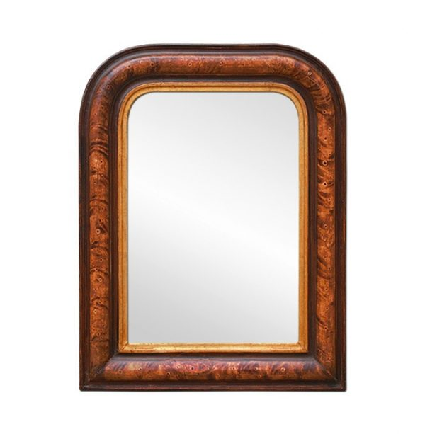 Small Louis-Philippe Style Mirror Polychrome Wood, Early 20th Century