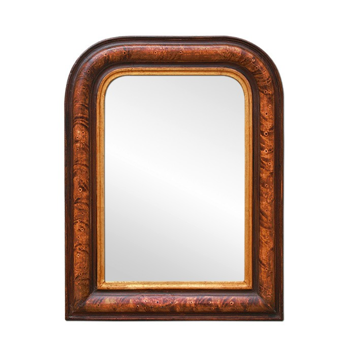 small-Louis-Philippe-style-mirror-polychrome-wood