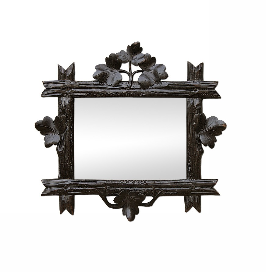 small-antique-dark-wood-mirror-with-leaves-carved