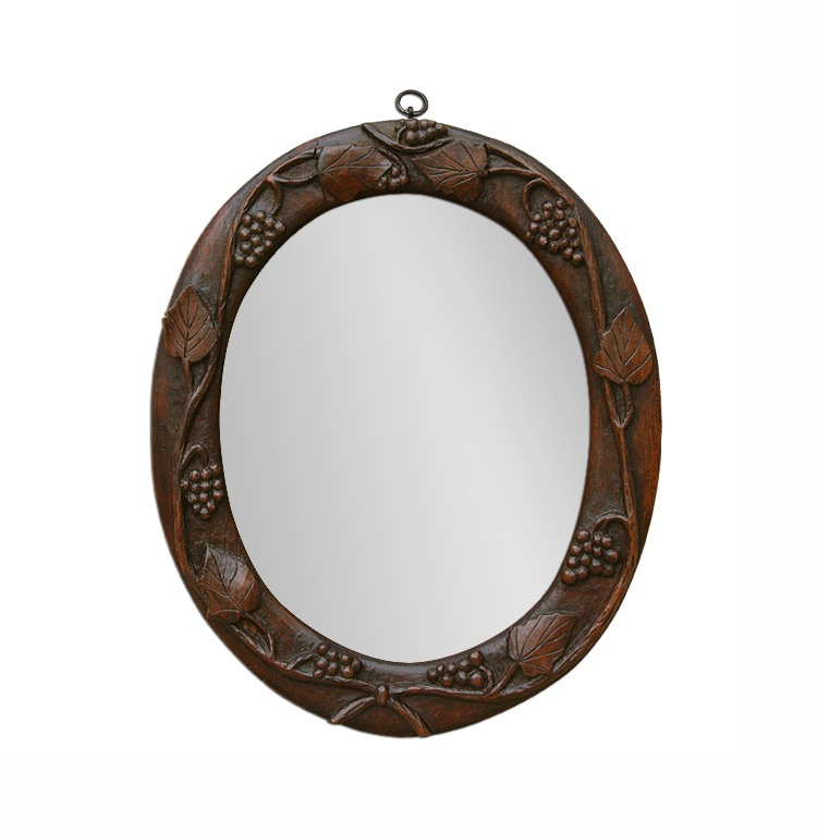 small-antique-oval-mirror-with-wood-carved-vines-decor