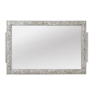 Small Antique Silverwood Wall Mirror, Modern'Style, circa 1900